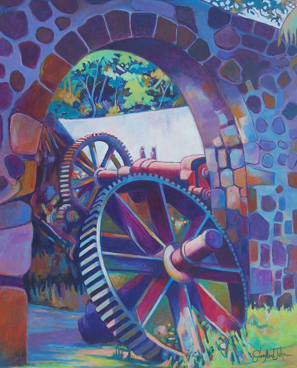 Art Print featuring the painting Plantation Spirit by Glenford John