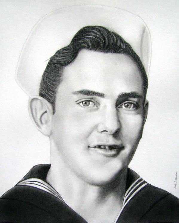 Portrait Art Print featuring the drawing Portrait Of A Sailor by Nicole I Hamilton