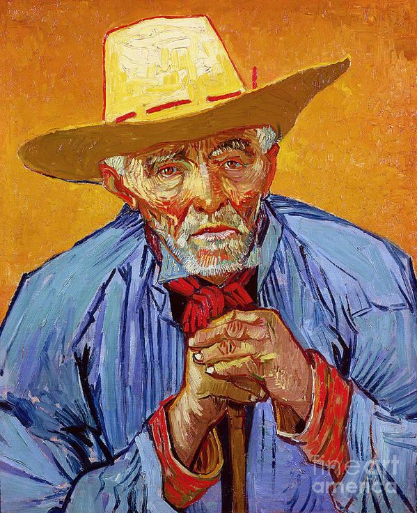 Portrait Art Print featuring the painting Portrait Of Patience Escalier by Vincent van Gogh