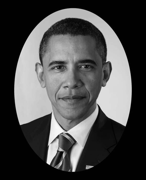 Obama Print featuring the photograph President Barack Obama by War Is Hell Store
