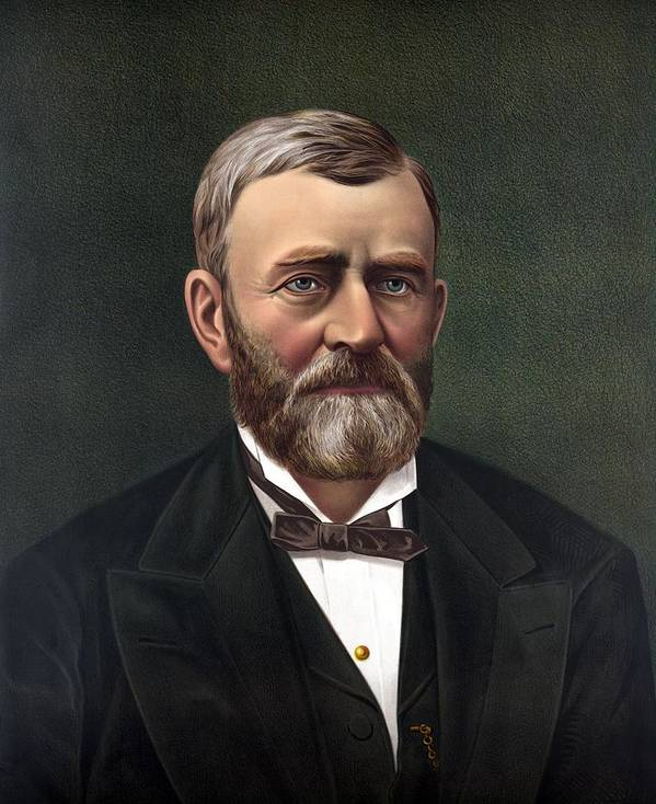 Ulysses S Grant Art Print featuring the painting President Ulysses Grant by War Is Hell Store
