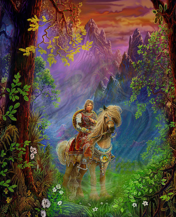Fantasy Art Print featuring the painting Prince Charming by Steve Roberts