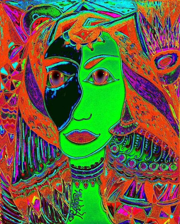 Queen Of The Nile Art Print featuring the painting Queen Of The Nile by Natalie Holland
