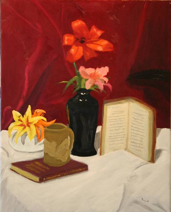 Still Life Art Print featuring the painting Quiet Spot by Robert Tower
