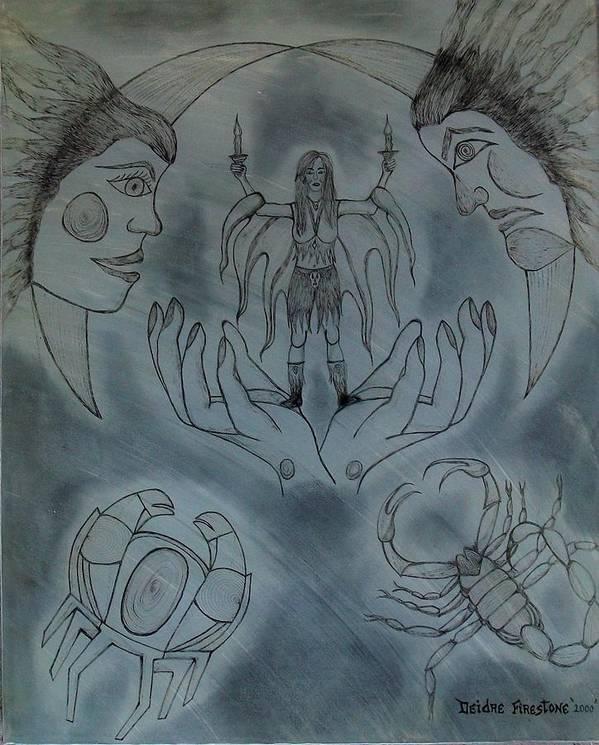 Spiritual Art Art Print featuring the painting Release Me by Deidre Firestone