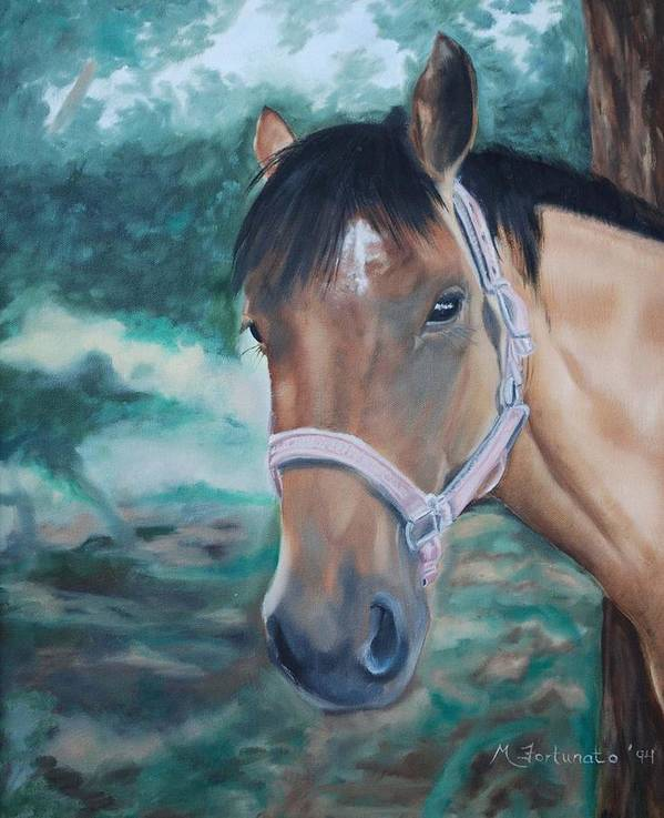 Horse Art Print featuring the painting Rosie by Margaret Fortunato