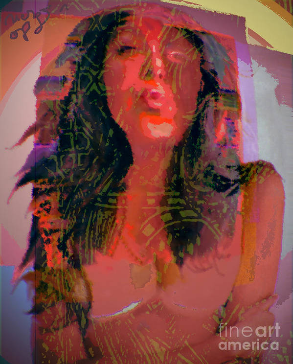 Portrait Art Print featuring the digital art Salome by Noredin Morgan