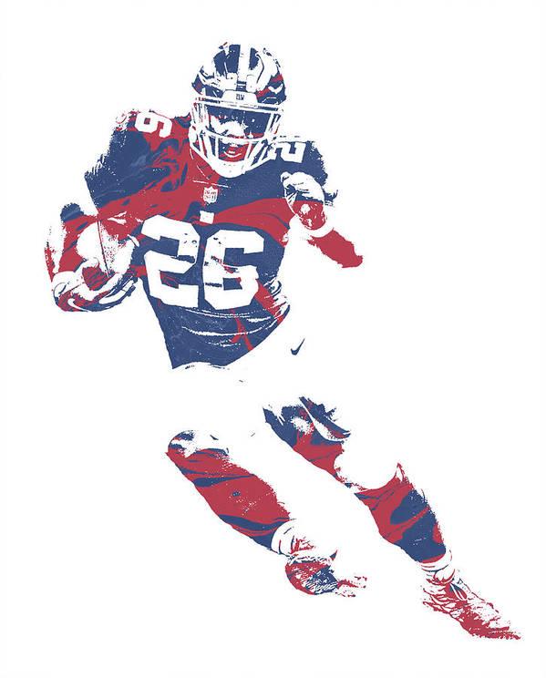 new arrival 14a80 64ed4 Saquon Barkley New York Giants Pixel Art 2 Art Print