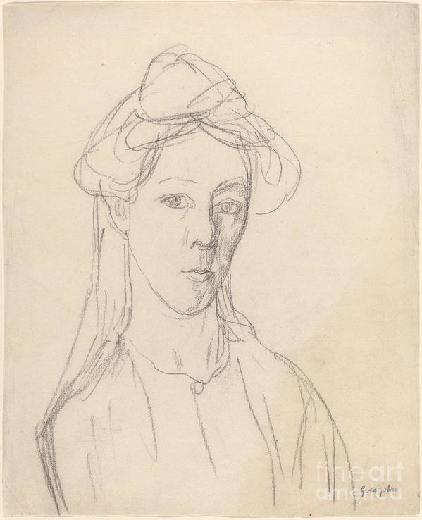 Art Print featuring the drawing Self-portrait by Gwen John