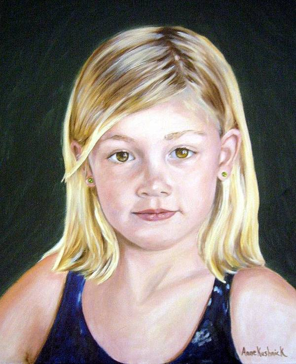 Portrait Art Print featuring the painting Shannon by Anne Kushnick