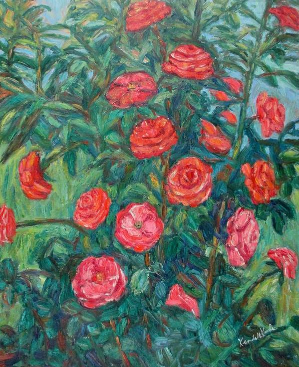 Rose Art Print featuring the painting Spring Roses by Kendall Kessler
