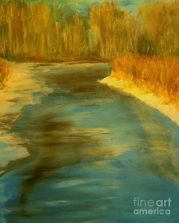 Landscape Art Print featuring the painting Spring Thaw by Julie Lueders