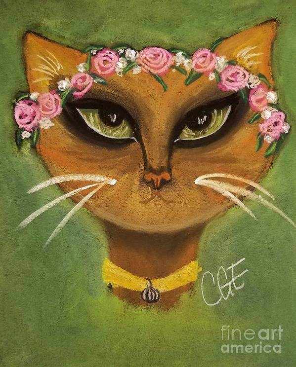 Summer Art Print featuring the pastel Summer Cat by Crystal Elswick