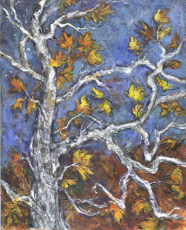 Foliage Art Print featuring the painting Sycamore by Lily Hymen