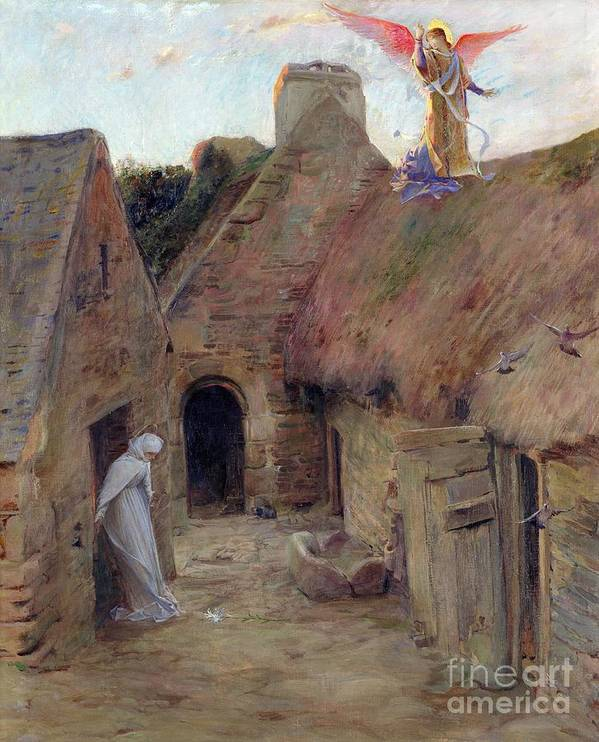 The Annunciation Art Print featuring the painting The Annunciation by Luc Oliver Merson