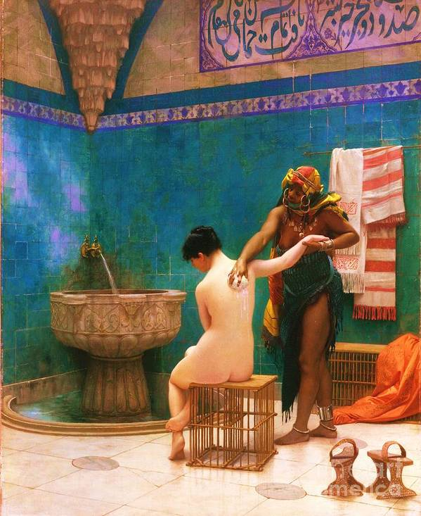 Reproduction Art Print featuring the painting The Bath by Pg Reproductions