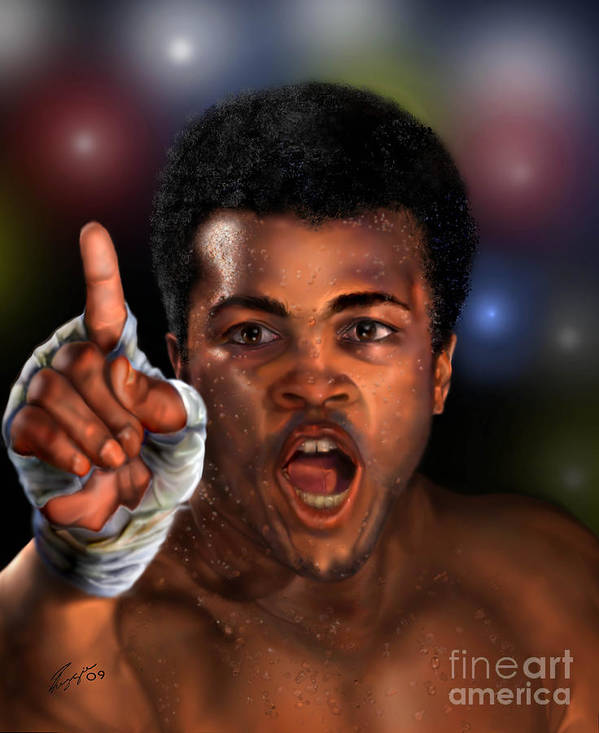 Champion Art Print featuring the painting The Champ Is Here -period by Reggie Duffie