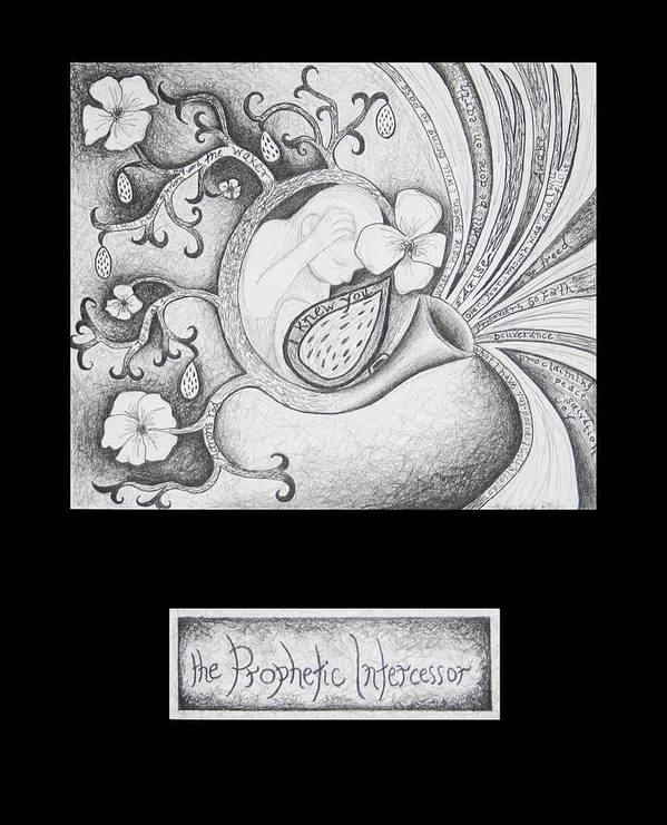 Christian Art Art Print featuring the drawing The Prophetic Intercessor by Amy Parker Evans