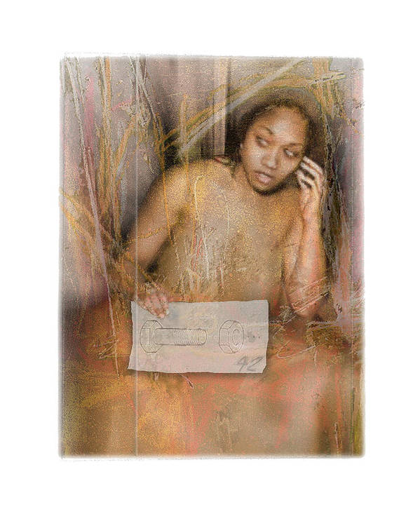 Portrait Art Print featuring the digital art The Wading by Nuff