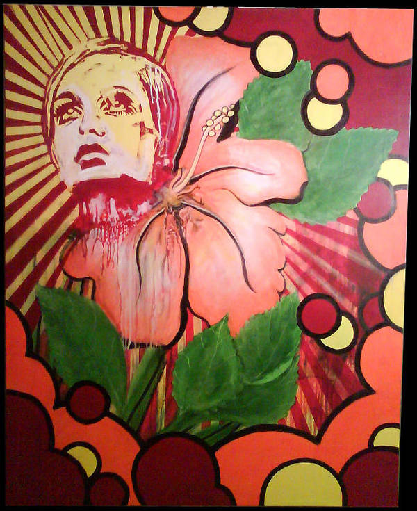 Twiggy Art Print featuring the painting Twiggy by Stephen Barry