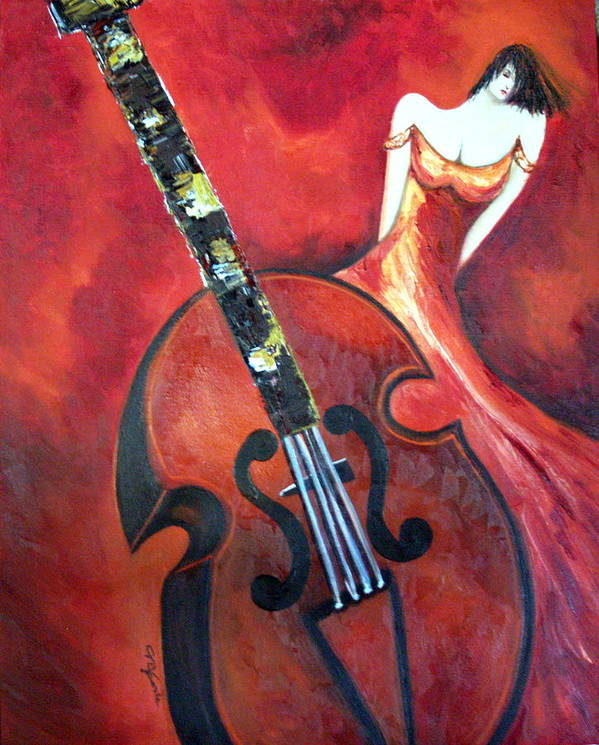 Music Art Print featuring the painting Ve La Musica by Niki Sands