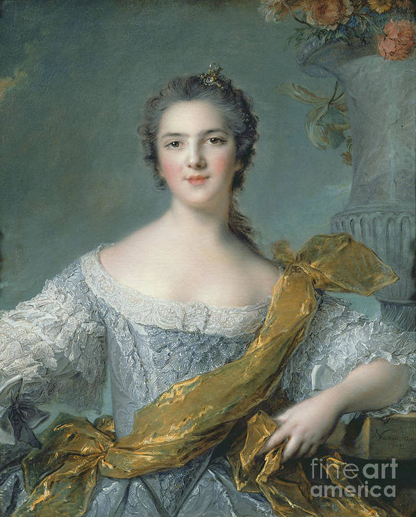 Victoire Print featuring the painting Victoire De France At Fontevrault by Jean Marc Nattier