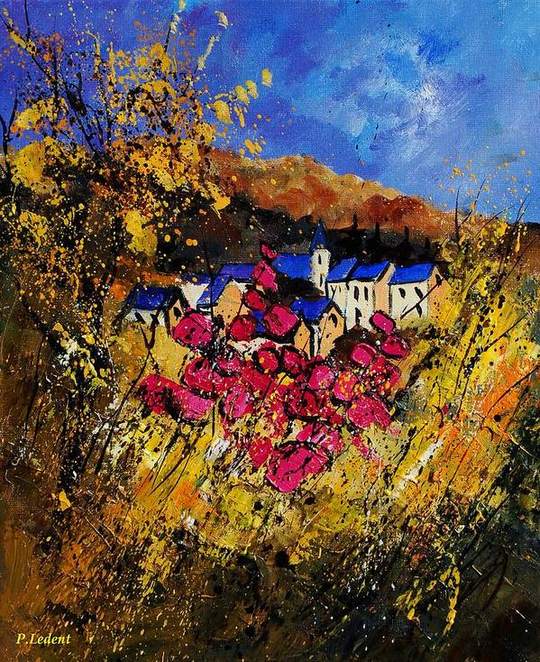 Flowers Art Print featuring the painting Village 450808 by Pol Ledent