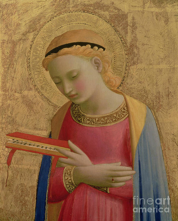 Virgin Annunciate Art Print featuring the painting Virgin Annunciate by Fra Angelico