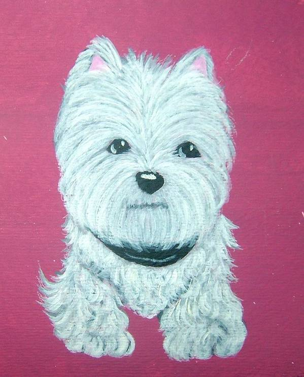 West Highland Terrier Art Print featuring the painting Westie by Tammy Brown