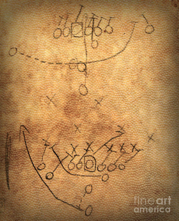 Football Art Print featuring the photograph X's And O's by Amy Steeples