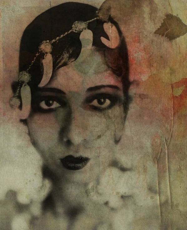 Josephine Baker Art Print featuring the mixed media Josephine Baker - Vintage by Paul Lovering