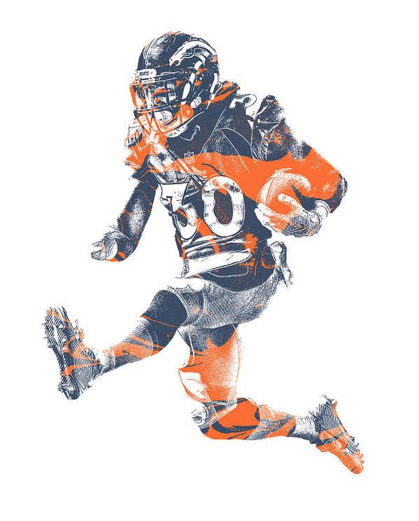 Phillip Lindsay Denver Broncos Pixel Art 2 Art Print By