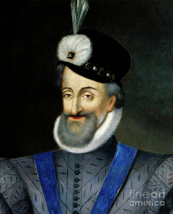 Art Art Print featuring the painting Portrait Of Henry Iv King Of France Detail by French School