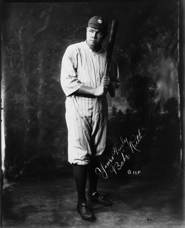 People Art Print featuring the photograph Babe Ruth by Mpi