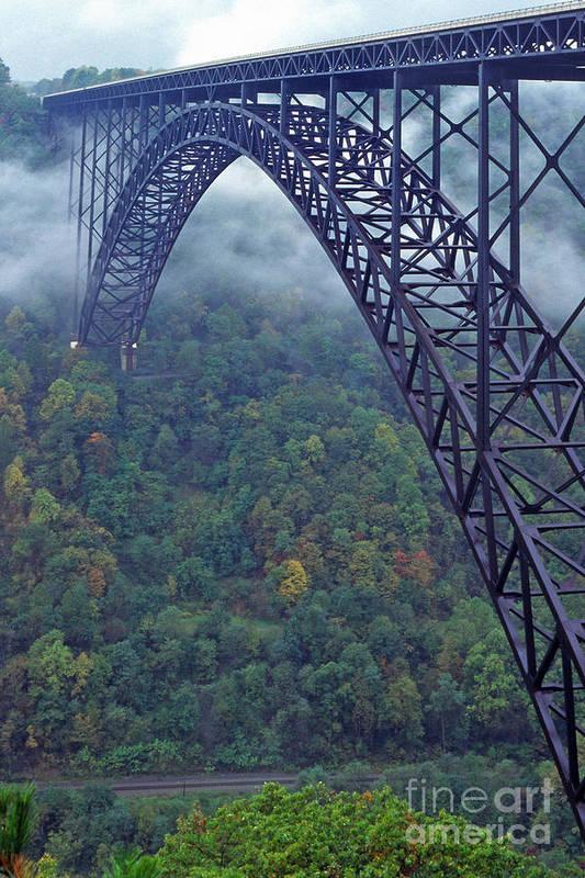 West Virginia Art Print featuring the photograph New River Gorge Bridge by Thomas R Fletcher