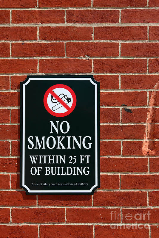 No Smoking Art Print featuring the photograph A Fine Line Between Right And Wrong by James Brunker