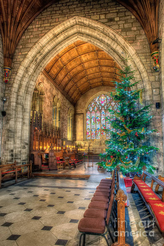 Christmas Art Print featuring the photograph Christmas Tree by Adrian Evans