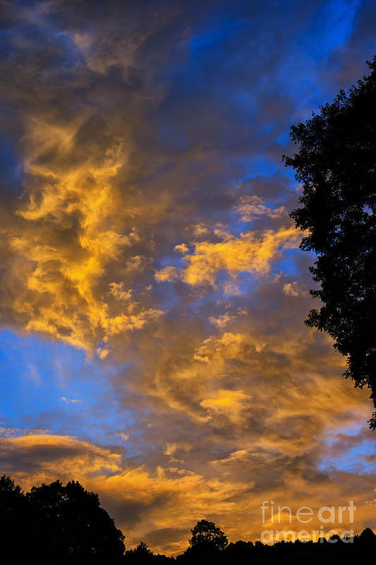Sunrise Art Print featuring the photograph Colorful Western Sky At Sunrise by Thomas R Fletcher