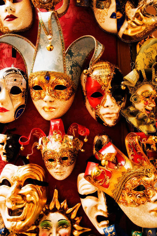 Venice Art Print featuring the photograph Faces Of Carnavale by Mick Burkey