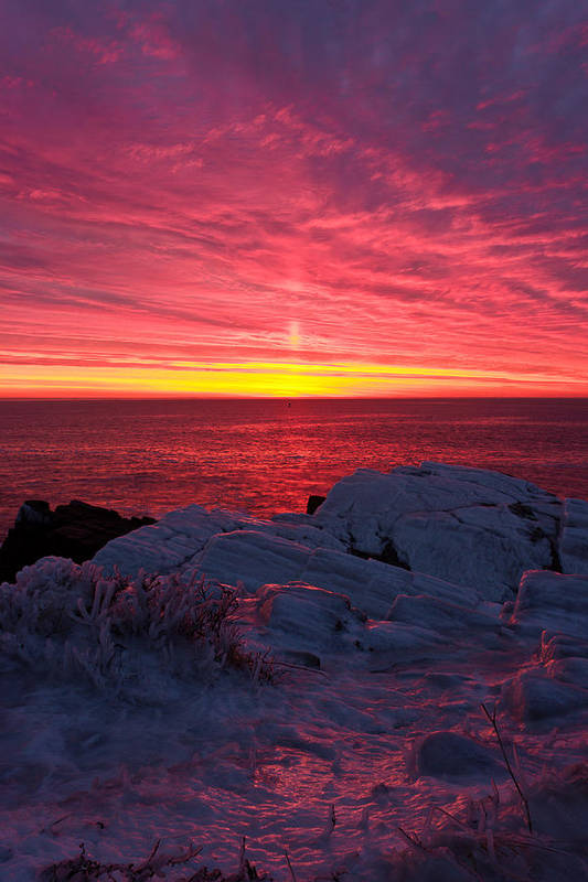 Benjamin Williamson Art Print featuring the photograph Fire And Ice by Benjamin Williamson