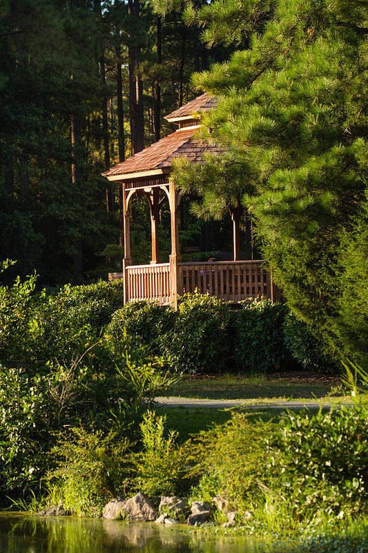 Gazebo Art Print featuring the photograph Gazebo In The Park  by Sammuel Hernandez