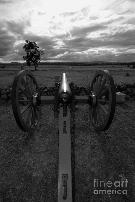 Gettysburg Print featuring the photograph In The Sights At Gettysburg by James Brunker