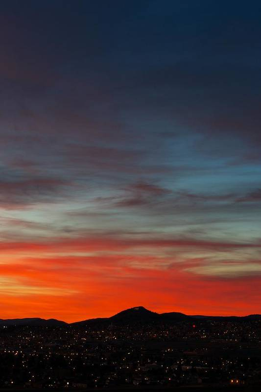 Sunset Print featuring the photograph M On Fire by Kevin Bone
