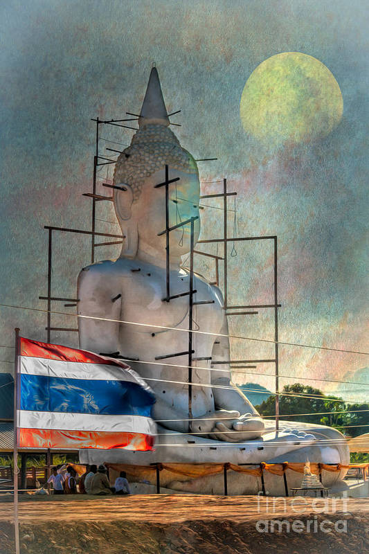 Hdr Art Print featuring the photograph Making Buddha by Adrian Evans
