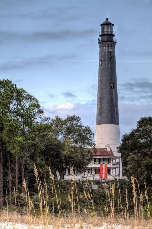 Pensacola Lighthouse Art Print featuring the photograph Pensacola Lighthouse V by JC Findley