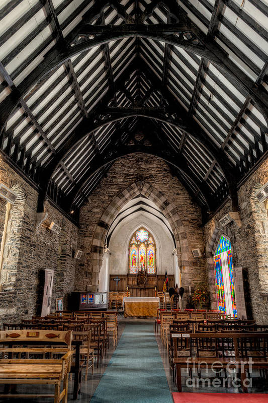 Altar Art Print featuring the photograph St Tudcluds Church by Adrian Evans
