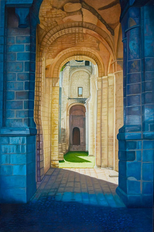Architecture Art Print featuring the painting The Arches Of The Abbey At Jumieges by Stephen Degan