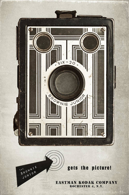 Antique Art Print featuring the photograph The Brownie Junior Six-20 Camera by Tom Mc Nemar