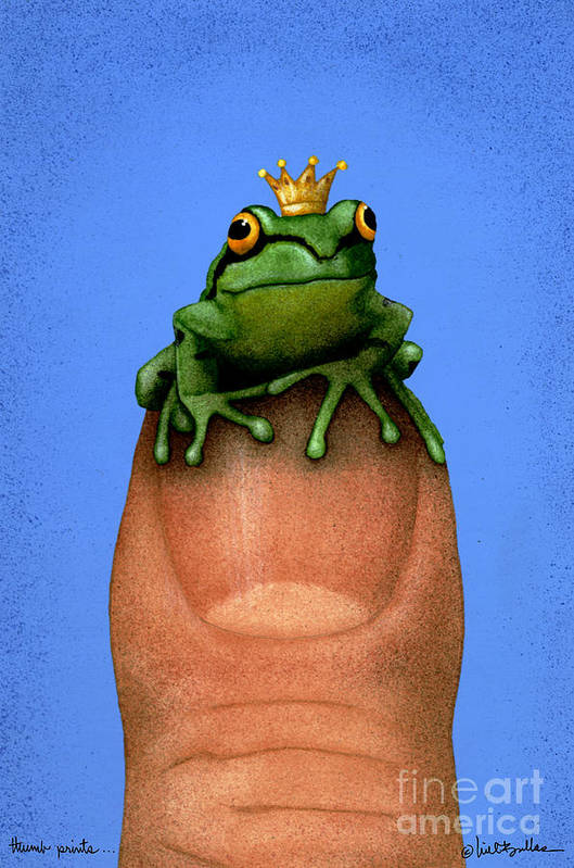 Will Bullas Art Print featuring the painting Thumb Prince... by Will Bullas