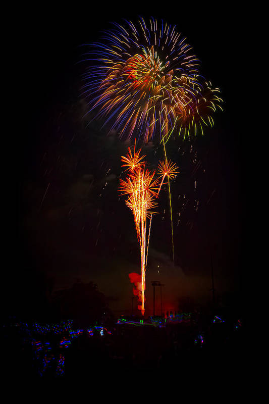 4th Of July Print featuring the photograph Small Town Celebration by David Hahn